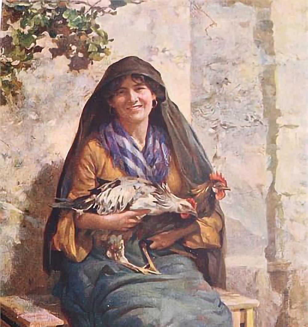 The chicken hawker by E. Caruana Dingli, 1948