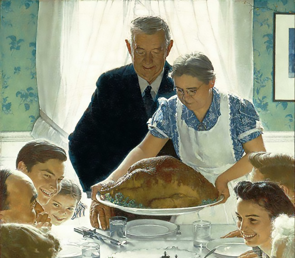 Freedom of Want by Norman Rockwell, 1943