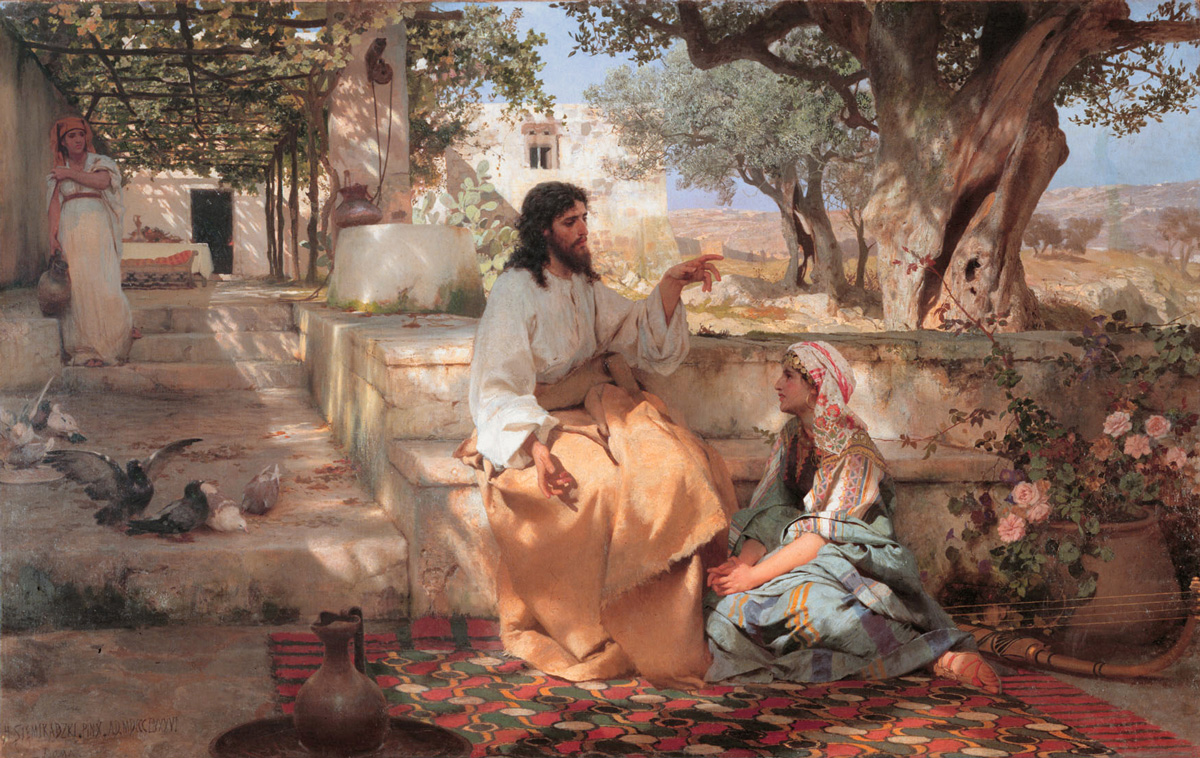 Christ in the House of Martha and Mary by Henryk Siemiradzki, 1886