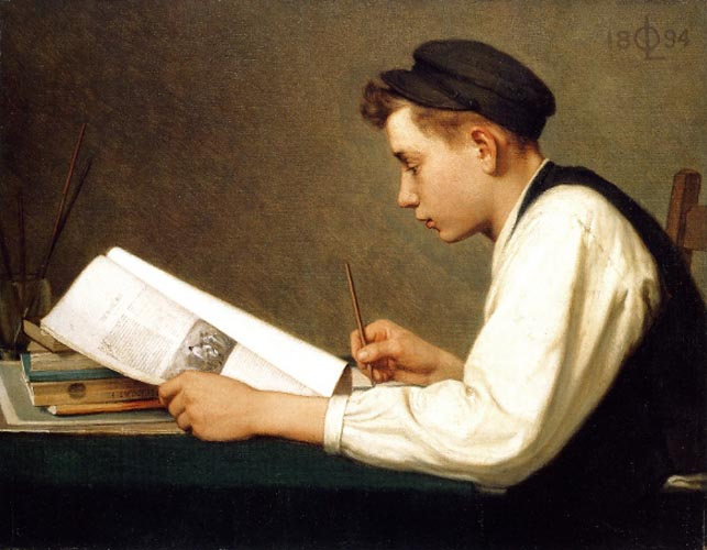 The young student by Ozias Leduc, 1894