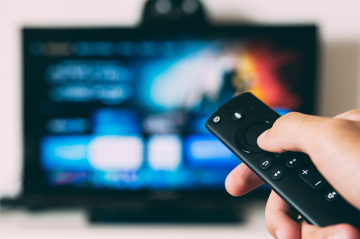 Remote pointing at a TV screen
