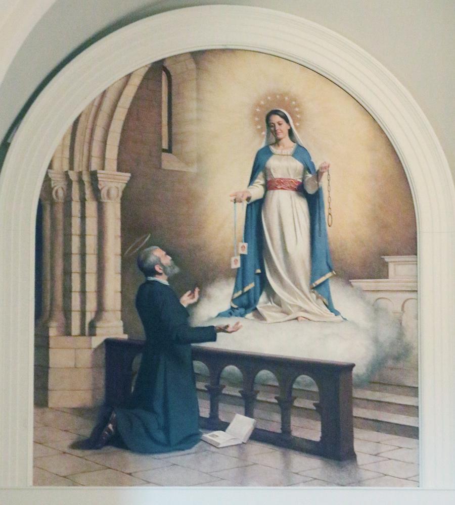 Painting of St. Raymond of Peñafort's vision of Mary