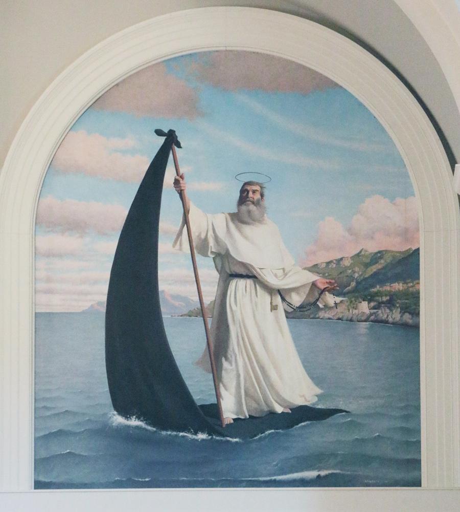 Painting of St. Raymond of Peñafort's miracle